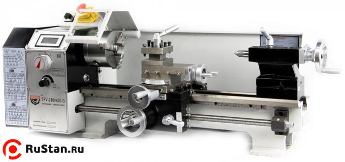 Настольный токарный станок SPV-210x400-G отзывы, характеристики с фото, инструкция, видео , арт. 39001700